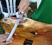 Ham Day in Monesterio, Spain