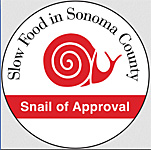 """Snail of Approval"" to Slow Food in Sonoma County"