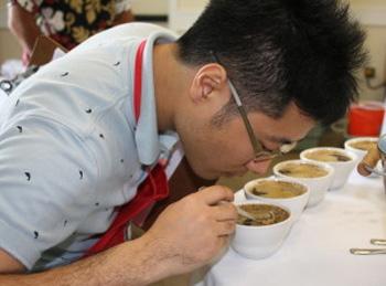 Cupping at Kona Coffee Festival, Hawaii
