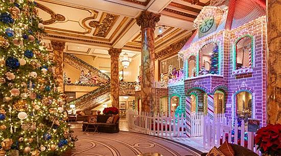 Christmas Decorations, Fairmont, San Francisco, California