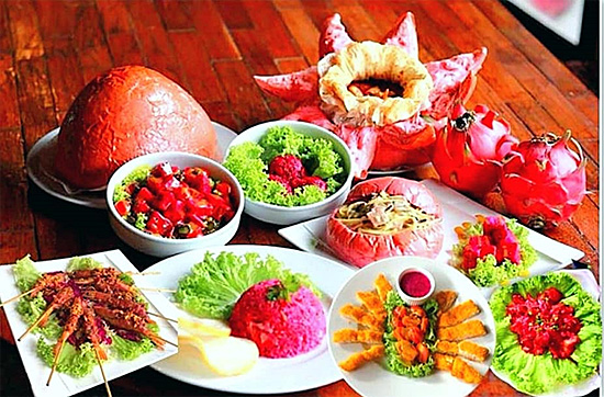 Dragon fruit cuisine from Malaysia